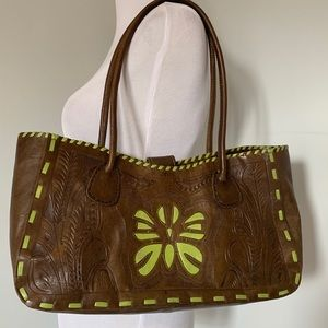 LEADERS IN LEATHER Hand-tooled Bag